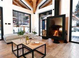 Hotel photo: a chalet with 5 bedrooms and a very large living room
