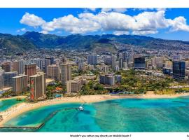 Hotel photo: Waikiki Shore 606 - Beachfront Ocean View Kitchen Lanai Sleeps 4