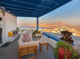 A picture of the hotel: Cycladic houses,180° amazing island view!
