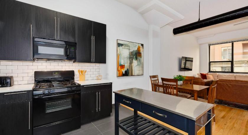 Apartamento Standard New! Airy 1BR with High Ceilings in South Loop