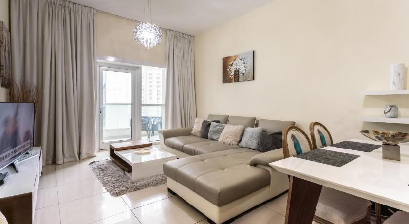 One-Bedroom Apartment Furnished 1BR in Marina, 5 mins to Tram
