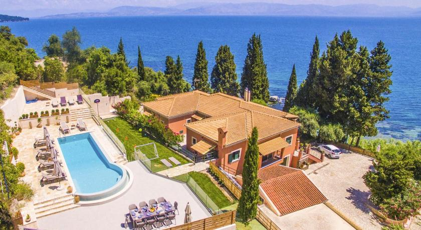 Best time to travel Greece Achilleion Villa Sleeps 14 Pool WiFi