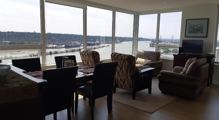 Best time to travel Canada RIverfront Condo at the New West Quay