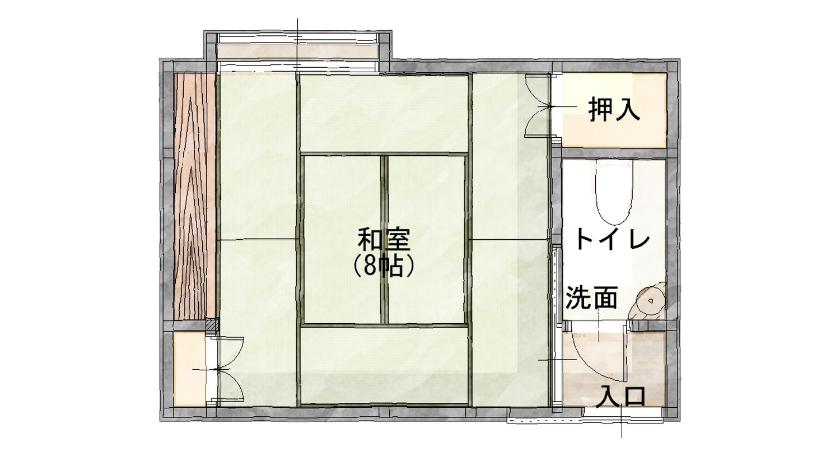 Japanese-Style Standard Room with Shared Bathroom and Private Toilet Super Hydrogen Rich Spa Yado Kanzan