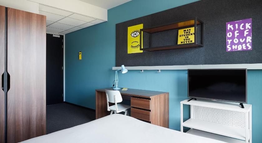 Double Room with Panoramic View The Student Hotel Groningen
