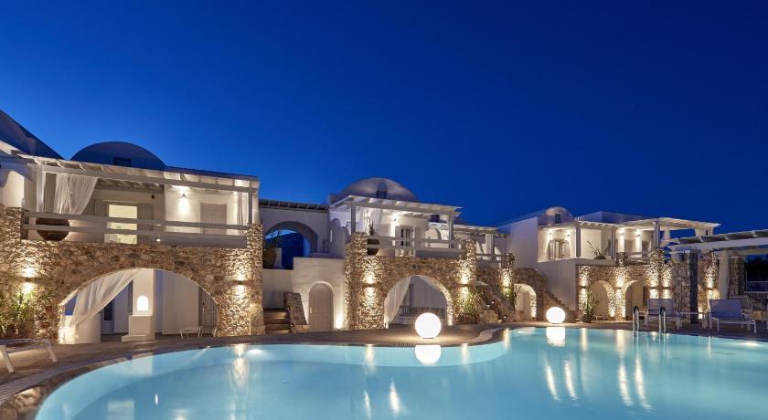 Orabel Suites Santorini Greece at night