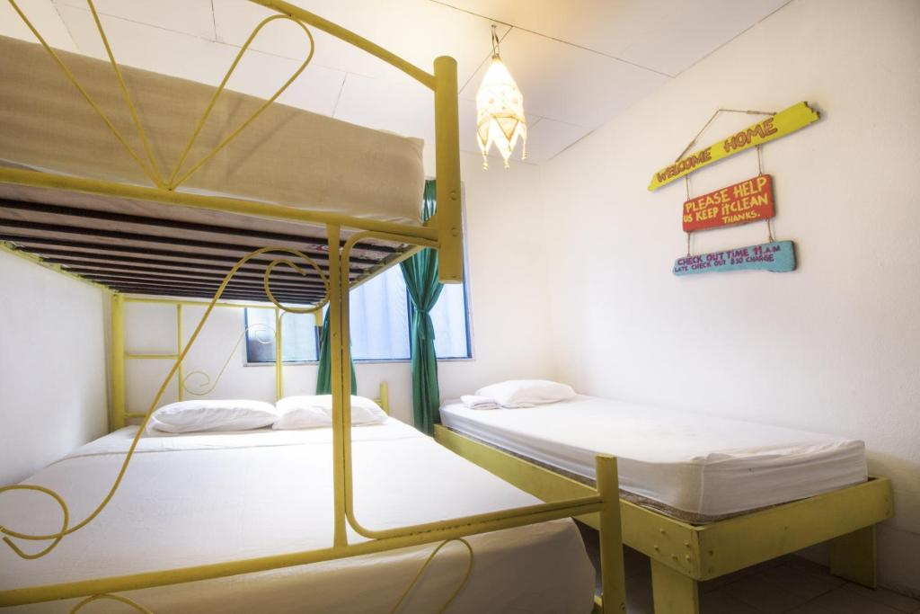 Bed in 4-Bed Mixed Dormitory Room with Share Bathroom Beds on Bohio Hostel