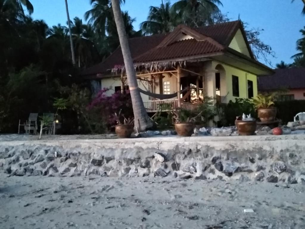 Right on the beach house