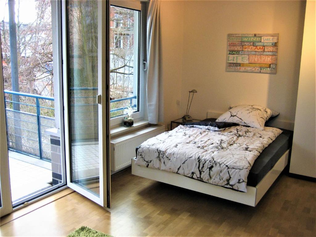 Hochwertiges Apartment im Grünen, zentral gelegen, ruhig, Balkon