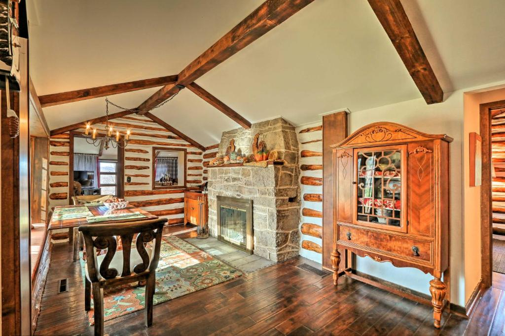 Macungie Cabin with Fireplace Near Bear Creek Skiing!