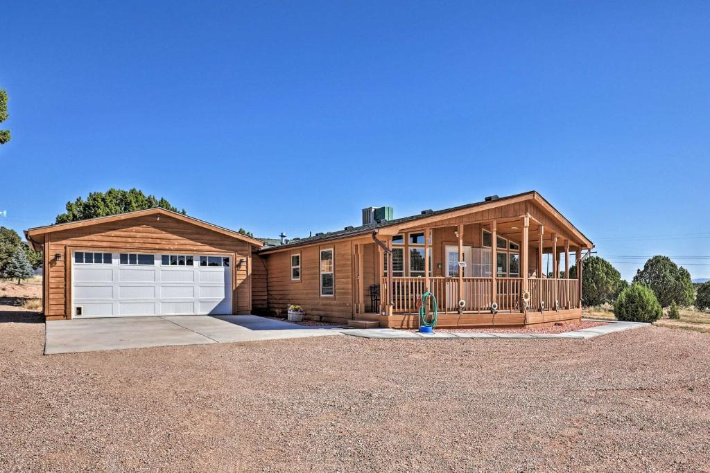 Eco-Conscious Cedar City Cabin with Deck and Mtn View!