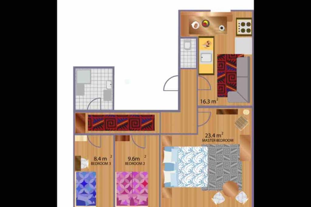 Salzburg Central Sunny Quiet 3 Bedroom, 5020 Salzburg