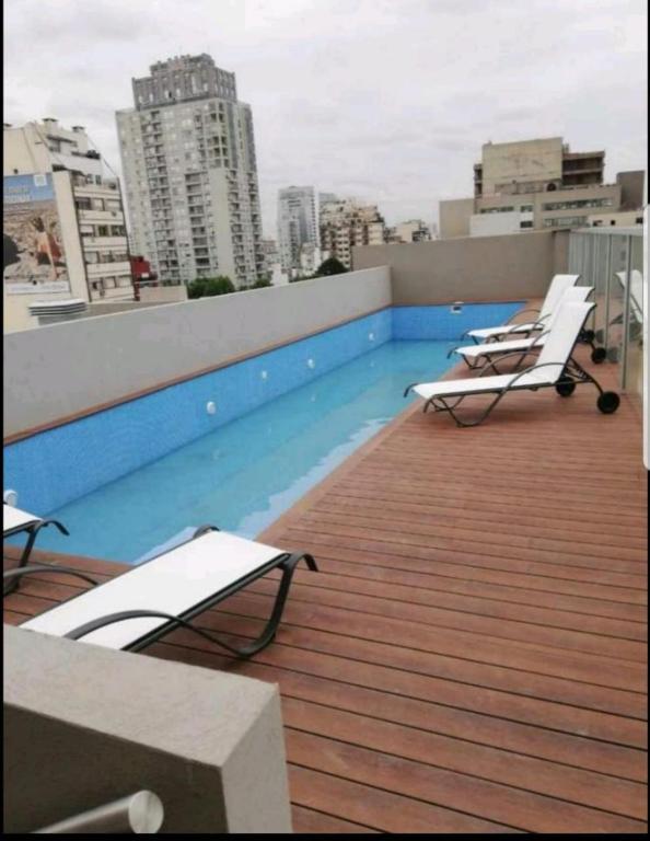 Monoambiente en Palermo con piscina y gimnasio