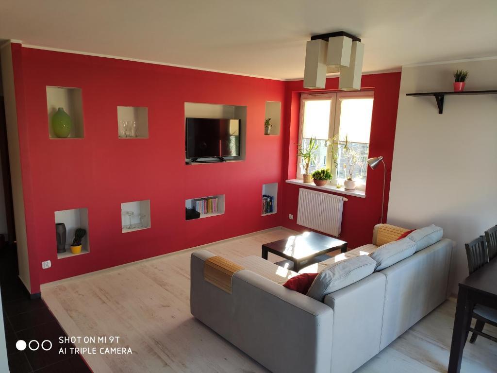 noclegi Gdańsk Red Wall Apartment