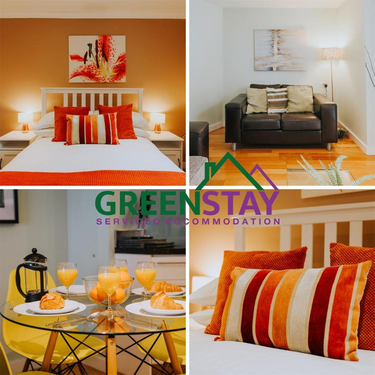 """""""The Garden Apartment Newquay"""" by Greenstay Serviced Accommodation - Beautiful 2 Bedroom Apartment Close To All Beaches & Restaurants with Free Parking, Netflix, Wi-Fi & Outside Garden Terrace"""
