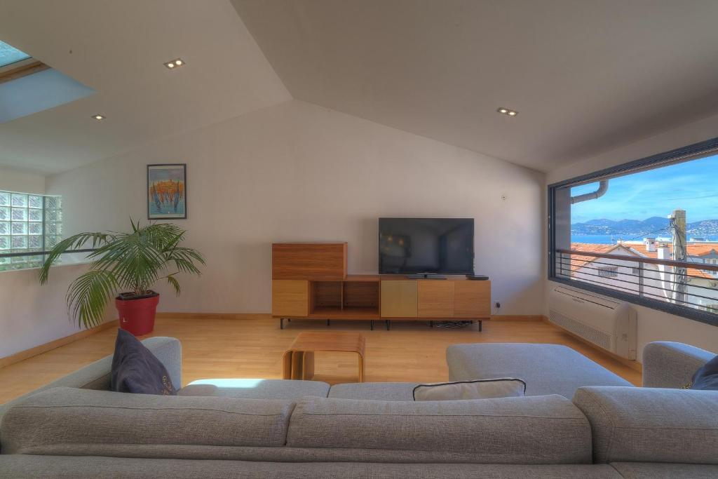 IMMOGROOM - 100m 3 Duplex - Sea view -AC-Le SUQUET- CONGRESSBEACHES