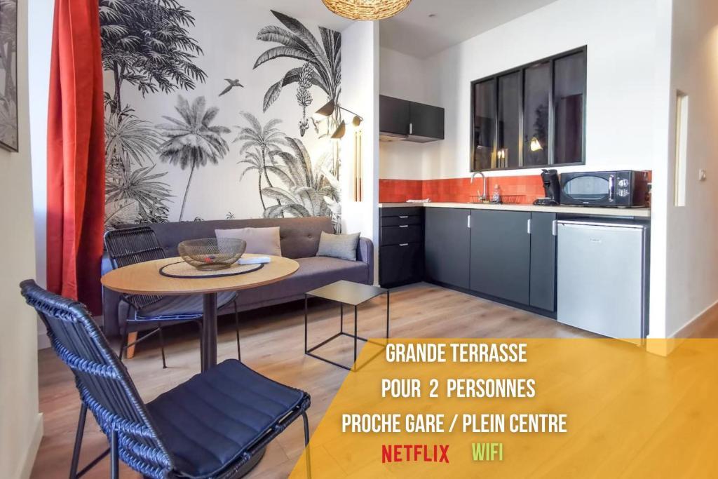Bain de soleil - Terrasse - Clim-Wifi-Netflix - Gare SNCF-Centre-Ville