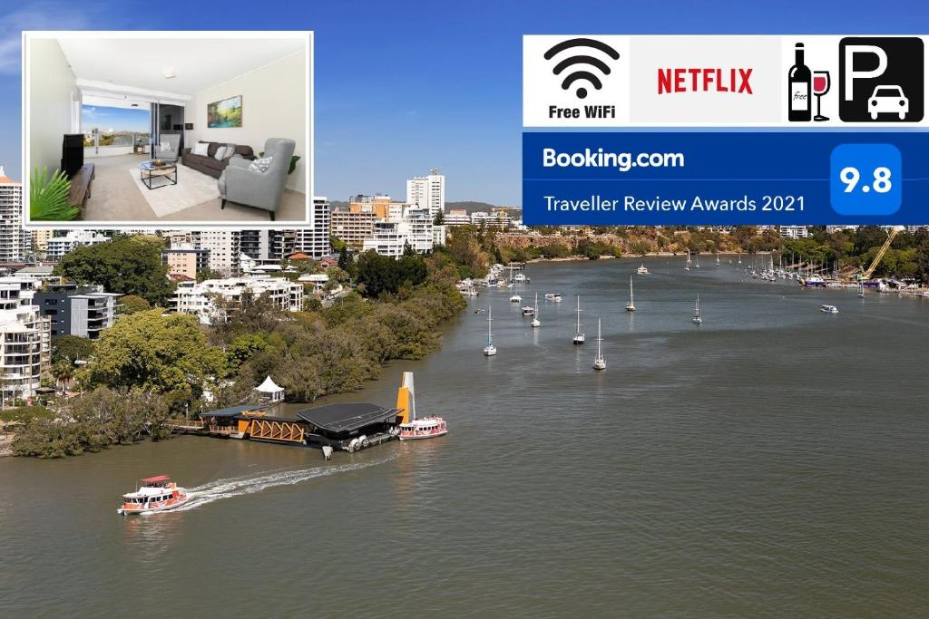 Amazing River View - 3 Bedroom Apartment - Brisbane CBD - Netflix - Fast Wifi - Carpark