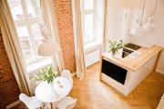 White Apartment in the center of Cracow