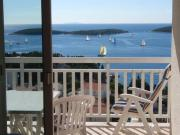 Studio Apartment in Hvar Town with Sea View Loggia Air Conditioning WiFi 37236