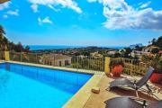 Alegria sea view villa with private pool in Moraira