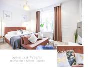 Luxury Oliwa Apartament Gdańsk Studio z sofą i 3 oddzielne sypialnie z sofą obie sofy z opcją spania