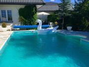 Dom z basenem i dużym ogrodem