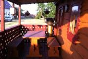Drewniana chatka na Wyspie Sobieszewskiej