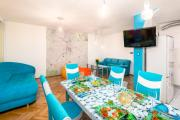 Colorful art apartment in top center