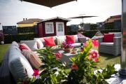 luxury evergreen terrace