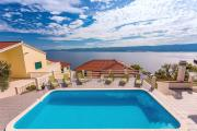 VILLA MASLINA with private 32m2Pool panoramic views on 100km coastline 12 pax