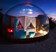 Bubble hotel on the water