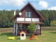 The holiday house is located near the forest 300 m from the lake 6 km from sea