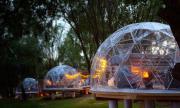 JURA GLAMP artystyczne domki na wyłączność KOPUŁY IGLOO taras ogród