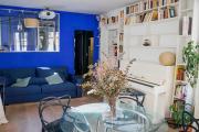 MAGNIFICENT COLORED apartment near MONTPARNASSE