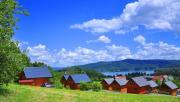 Domki Buena Vista poniżej punktu widokowego w Polańczyku