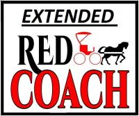 Extended Red Coach Hutch