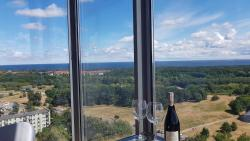 noclegi Gdańsk 16th floor view on the sea and city. 15 minutes walk to the beach.