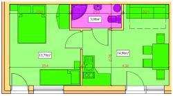 noclegi Rowy Apartament Piaskowy NR A5 (3-5 os.)