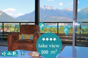 Home Lac 100m² Vue et parking - Apartment - Sévrier