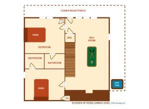 Echoes of Eden - Four Bedroom, Nyaralók  Sevierville - big - 64