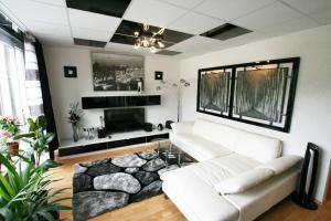 Designerwohnung in Schwarz und Weiß