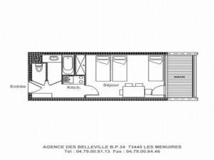Apartment Chaviere, Appartamenti  Les Menuires - big - 4