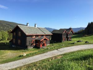 Stor flott tømmer hytte - Gol