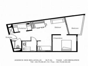 Apartment Armoise, Appartamenti  Les Menuires - big - 4