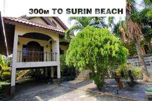 House 300 m to Phuket beach Surin 2 br