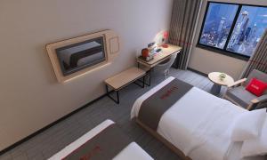 Hostales Baratos - Thank Inn Chain Hotel Jiangsu Yangzhou Jiangdu District Longchuan Square