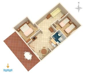 Apartments with a parking space Novi Vinodolski 5600