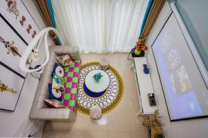 Family Kids Loft Homestay Near Subway Changlong, Apartmány  Kanton - big - 19