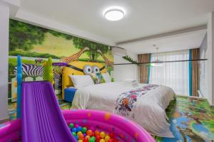 Family Kids Loft Homestay Near Subway Changlong, Apartmány  Kanton - big - 20